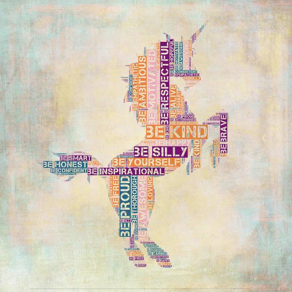 Unicorn Wall Art - Digital Art - Nursery Rhymes Unicorn by Brandi Fitzgerald