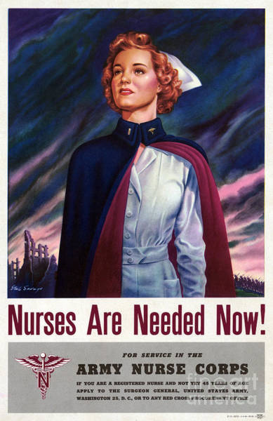 Fdr Painting - Nurses Are Needed Now - Vintage Wwii Poster by Vintage Treasure