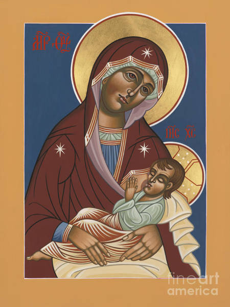 Painting - Nursing Icon Of The Mother Of God 174 by William Hart McNichols