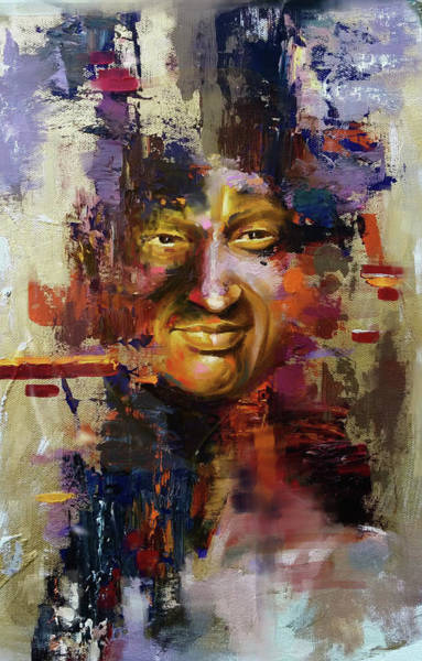 Wall Art - Painting - Nusrat Fateh Ali Khan by Mawra Tahreem
