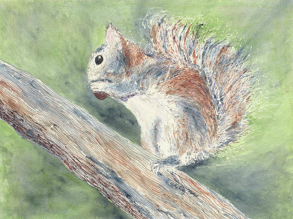 Art Print featuring the painting Nut Job by Kathryn Riley Parker