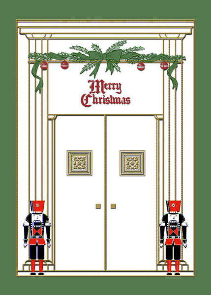 Digital Art - Nutcracker Doorway Christmas by Denise Beverly