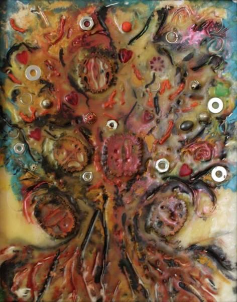 Walnut Mixed Media - Nuts And Bolts by Gitta Brewster