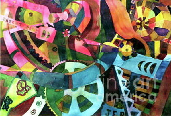Painting - Nuts And Bolts by Patsy Walton