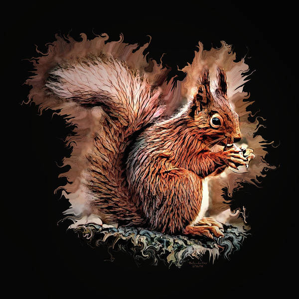 Digital Art - Nutty Squirrel by Artful Oasis