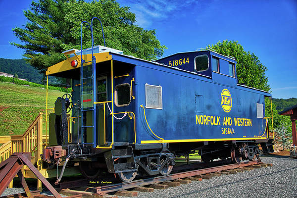 Photograph - Norfolk And Western 518 644 Caboose by Dale R Carlson