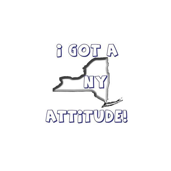 Digital Art - Ny Attitude Yankee Colors by Judy Hall-Folde