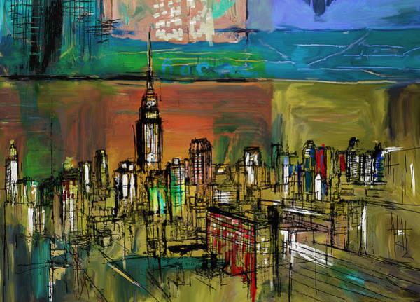 Doodle Painting - Ny Skyline 270 1 by Mawra Tahreem
