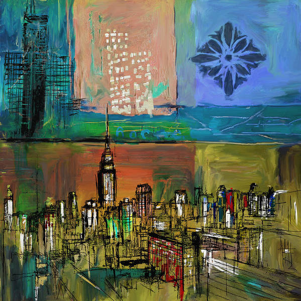 Doodle Painting - Ny Skyline 270 2 by Mawra Tahreem