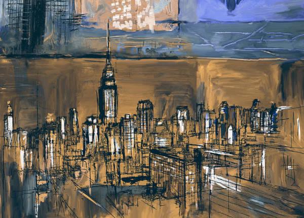 Doodle Painting - Ny Skyline 270 4 by Mawra Tahreem