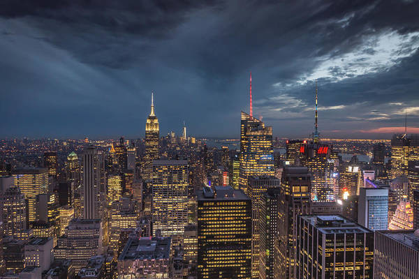 Photograph - Ny Skyline Night by Framing Places