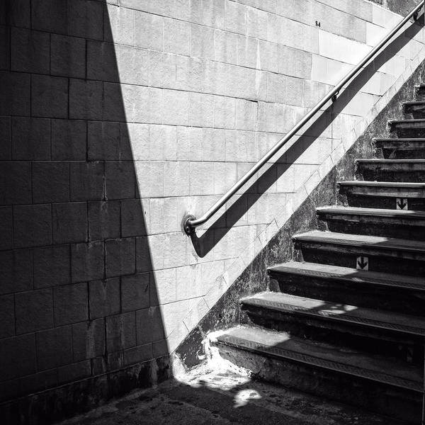 Photograph - Ny Subway Stairs by Frank Winters