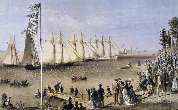 Photograph - Ny Yacht Club Regatta, 1869 by Granger