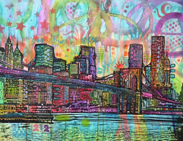 Nyc Skyline Painting - Nyc 212 by Dean Russo Art