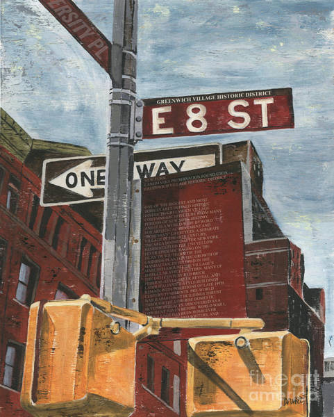 Wall Art - Painting - Nyc 8th Street by Debbie DeWitt