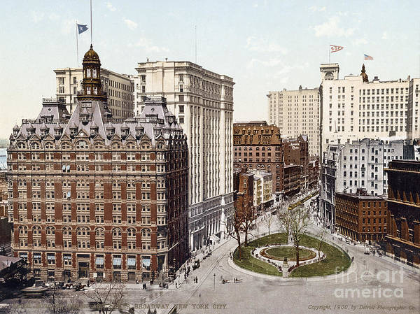 Photograph - Nyc, Bowling Green, 1900. by Granger