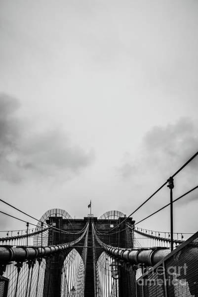Photograph - Nyc Brooklyn Bridge by Edward Fielding
