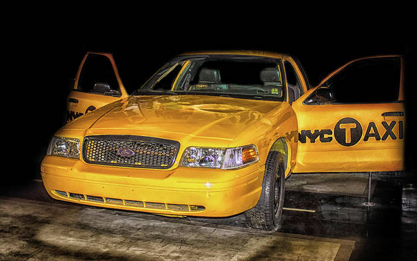 Yellow Taxi Photograph - Nyc Cab by Martin Newman