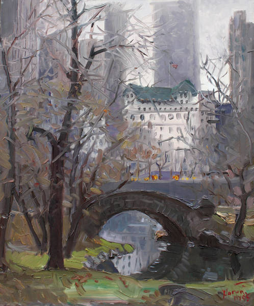 Wall Art - Painting - Nyc Central Park by Ylli Haruni