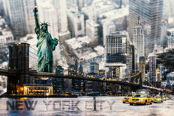 Photograph - Nyc - Collage by Hannes Cmarits