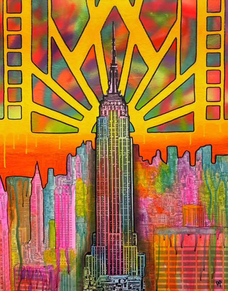 Nyc Skyline Painting - Nyc Empire by Dean Russo Art