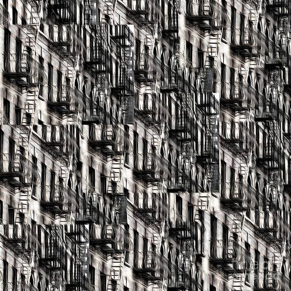 Wall Art - Photograph - Nyc Fire Escapes by Edward Fielding