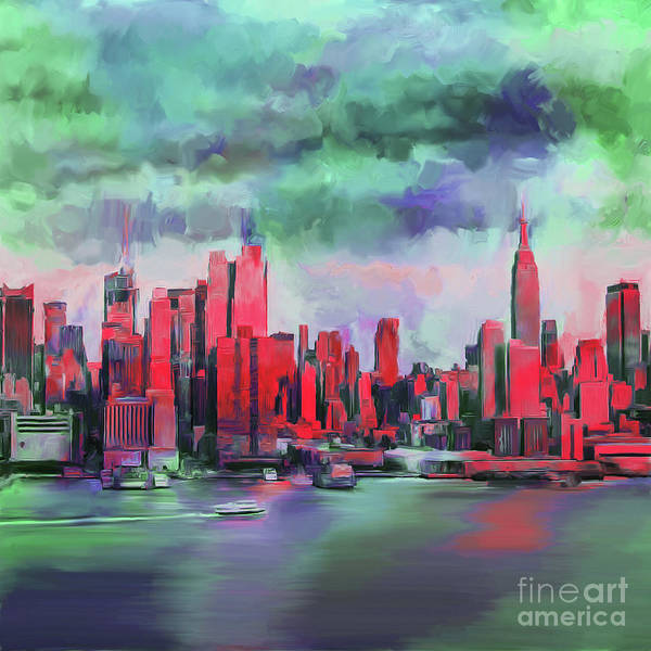 Wall Art - Painting - Nyc  by Gull G