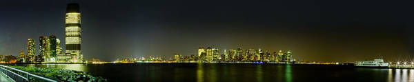 Nyc Night Skyline Panorama 1 Art Print