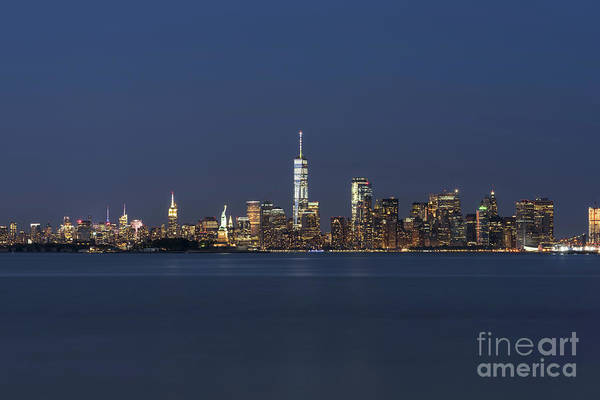 Wall Art - Photograph - Nyc Skyline At Blue Hour by Michael Ver Sprill