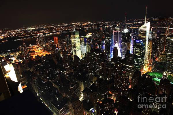 Wall Art - Photograph - Nyc Skyline At Night II by Wayne Moran