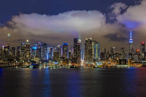 Photograph - Nyc Skyline At Night by Susan Candelario