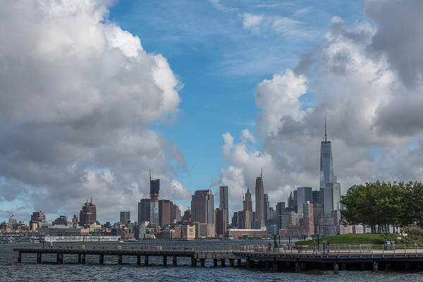 Photograph - Nyc Skyline Freedom Tower From Hoboken Waterfront  by Terry DeLuco