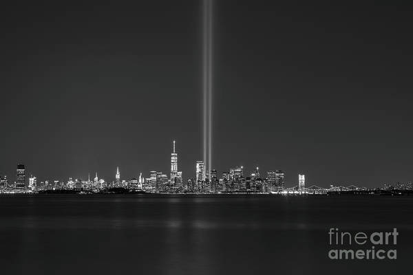 Wall Art - Photograph - Nyc Skyline Memorial Bw by Michael Ver Sprill