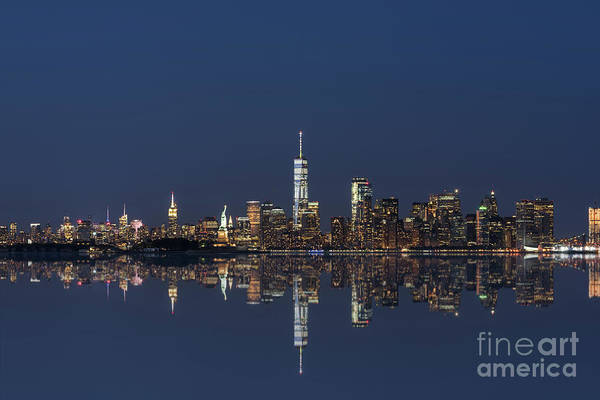 Liberty Bridge Photograph - Nyc Skyline Reflections  by Michael Ver Sprill