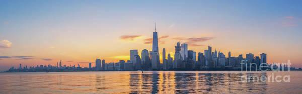 Nine Eleven Photograph - Nyc Skyline Sunrise by Michael Ver Sprill