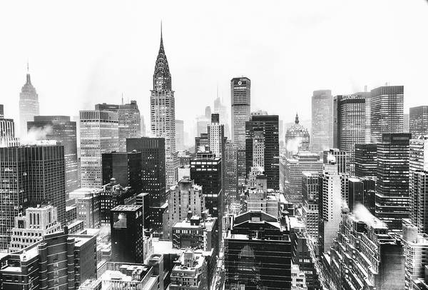 Skylines Wall Art - Photograph - Nyc Snow by Vivienne Gucwa