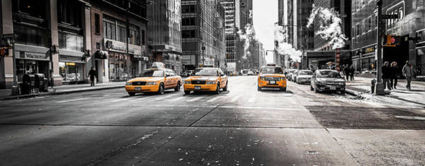 Photograph - Nyc Taxi by Gabriel Israel