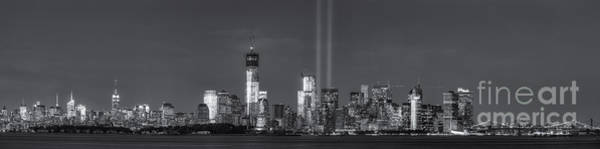 Photograph - Nyc Tribute In Light Skyline Panorama II by Clarence Holmes