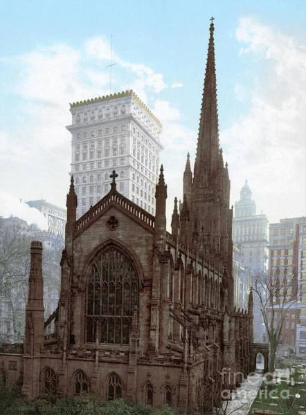 Photograph - Nyc, Trinity Church, 1901.  by Granger