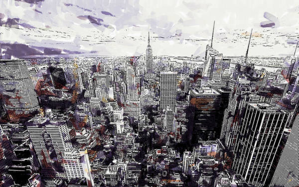 Painting - Nyc View From Rockefeller Center by Dean Wittle