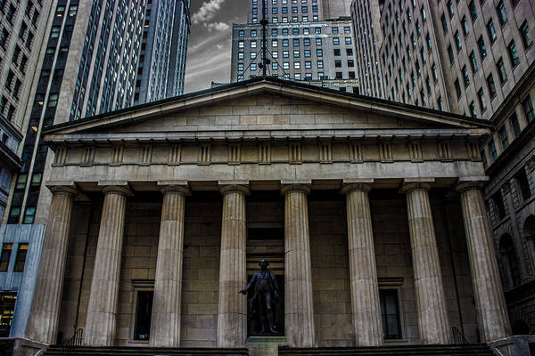 Financial Centre Photograph - Nyc Wall Street by Martin Newman