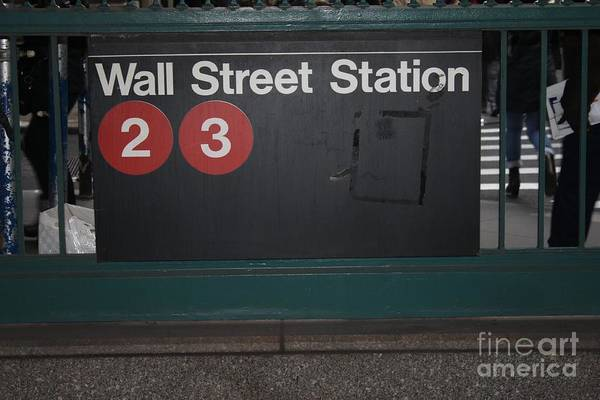 Station To Station Photograph - Nyc Wall Street Subway Entrance by John Telfer