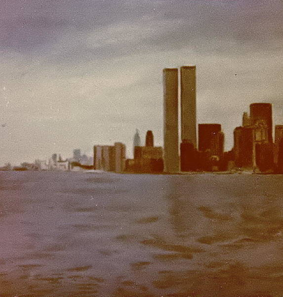 Twin Towers Drawing - N Y C 1977 by Bill Cope