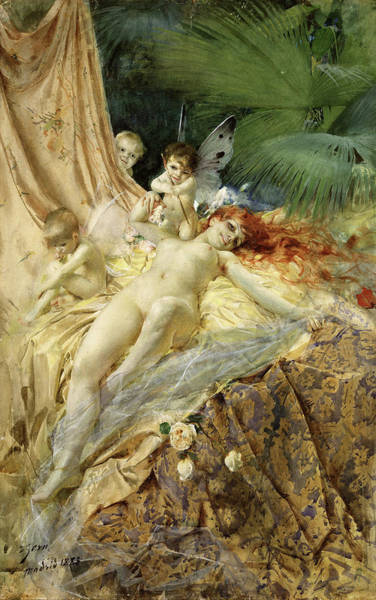 Ermine Wall Art - Painting - Nymph by Anders Leonard Zorn