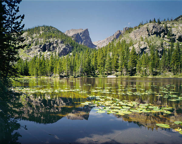Photograph - 310208-nymph Lake Hallett Peak Reflect  by Ed  Cooper Photography