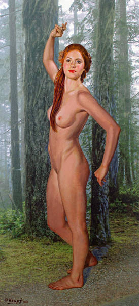 Wall Art - Painting - Nymph Of The Forest by Paul Krapf