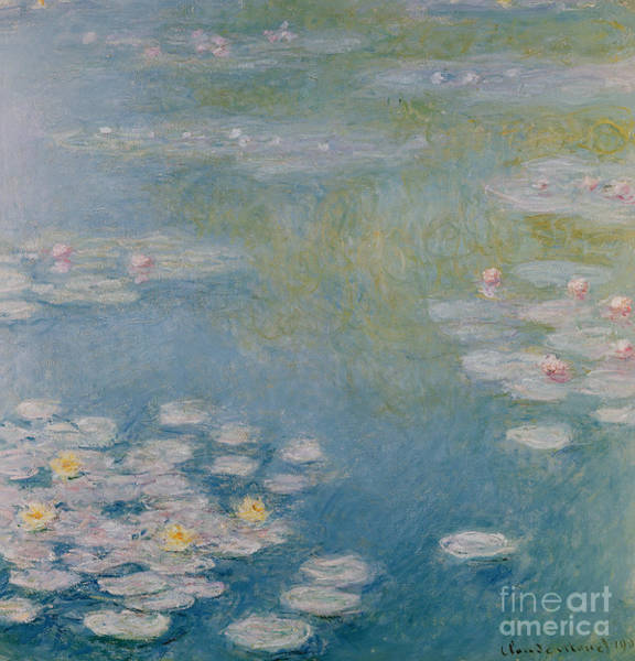 Giverny Painting - Nympheas At Giverny by Claude Monet