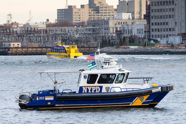 Photograph - Nypd Harbor Unit by SR Green