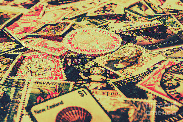 Stamp Collecting Photograph - Nz Post Background by Jorgo Photography - Wall Art Gallery