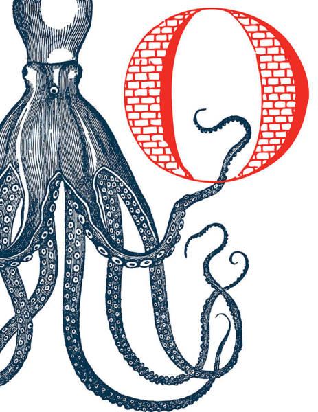 Nautical Digital Art - O Octopus by Thomas Paul